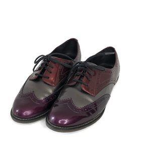 Dr. Marten's tri color patent leather oxfords